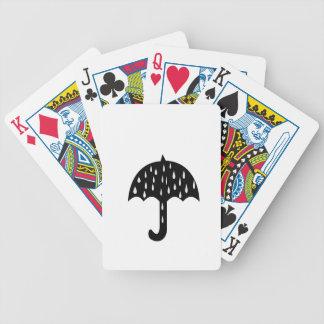 umbrella rain bicycle playing cards