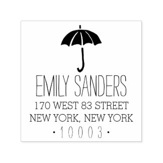 Umbrella Return Address Stamp