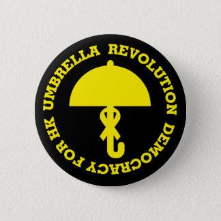 UMBRELLA REVOLUTION and DEMOCRACY FOR HK. 6 Cm Round Badge
