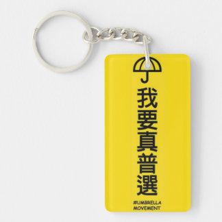 Umbrella revolution keychain