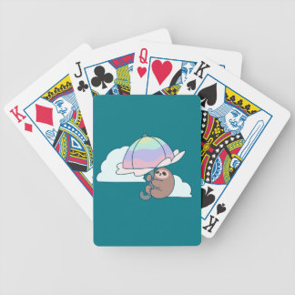 Umbrella Sloth Bicycle Playing Cards