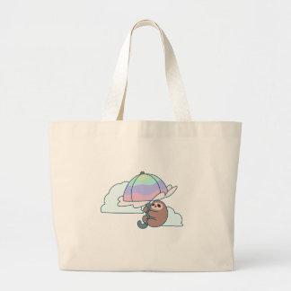 Umbrella Sloth Large Tote Bag