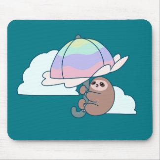 Umbrella Sloth Mouse Pad