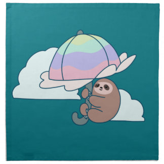 Umbrella Sloth Napkin