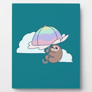 Umbrella Sloth Plaque