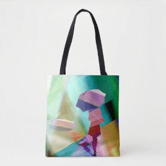 umbrella woman handbag