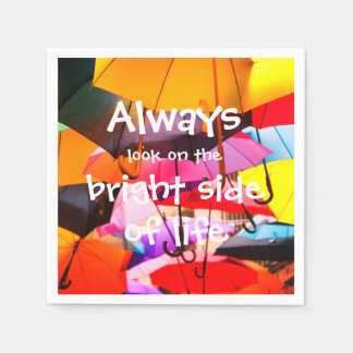 Umbrellas / Always look on the bright side of life Disposable Serviettes