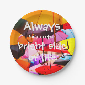 Umbrellas / Always look on the bright side of life Paper Plate