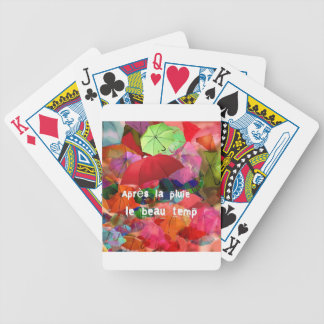Umbrellas and French proverb Poker Deck