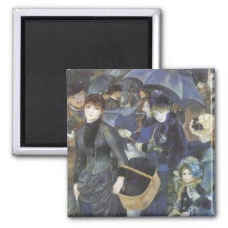 Umbrellas by Pierre Renoir, Vintage Impressionism Magnet