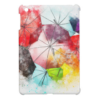 Umbrellas  Colorful Abstract Case For The iPad Mini