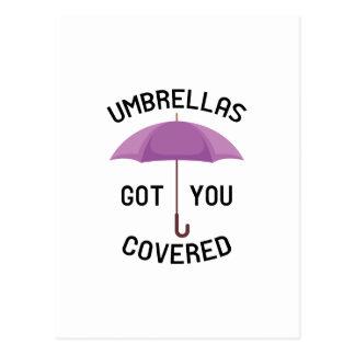 Umbrellas Got You Covered Postcard