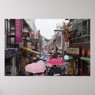Umbrellas Harajuku Posters
