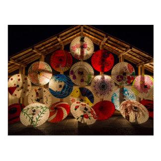 Umbrellas Japanese card