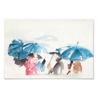 Umbrellas Original Watercolors Photo Print