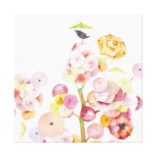 umbrellatreebird canvas
