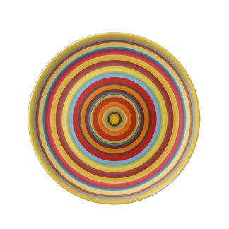 Umbria Circles Porcelan Plate