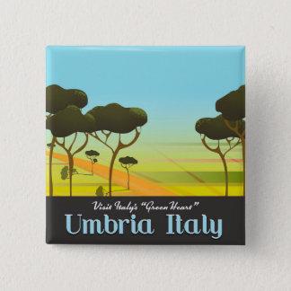 Umbria Italy travel poster 15 Cm Square Badge