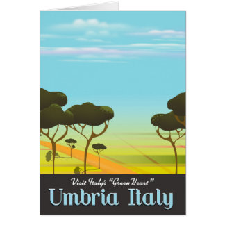 Umbria Italy travel poster Card