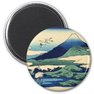 Umegawa in Sagami Province 6 Cm Round Magnet