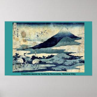 Umezawa manor in Soshu by Katsushika, Hokusai Ukiy Poster