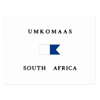 Umkomaas South Africa Alpha Dive Flag Post Cards