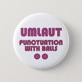 Umlaut Balls (Pink) 6 Cm Round Badge