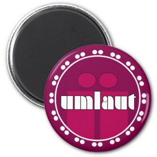 Umlaut Rondell Magnets - Raspberry