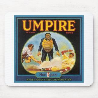 Umpire Vintage Citrus Label Mouse Pad