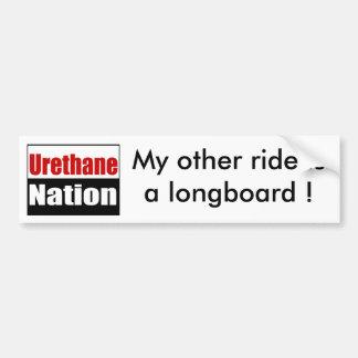 UN0002900x900, My other ride is a longboard ! Bumper Sticker