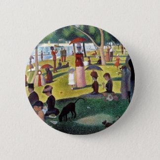 Un dimanche après-midi à l'Îl by Georges Seurat 6 Cm Round Badge