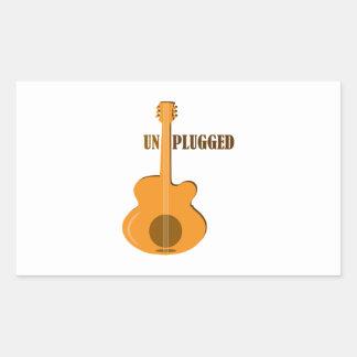 Un Plugged Rectangular Sticker