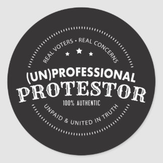 (Un) Professional Protestor Stickers (set of 6)
