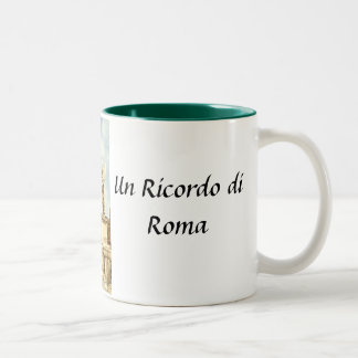 Un Ricordo di Roma Two-Tone Coffee Mug