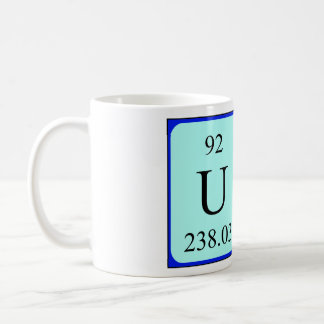 Una periodic table name mug