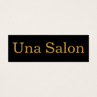 Una Salon Mini Business Card