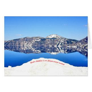 Una scena di inverno per Natale 6 Italiano Card