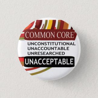 Unacceptable Common Core 3 Cm Round Badge