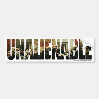 Unalienable 1776 bumper sticker
