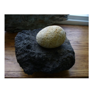 Unangan Grinding Stone, Unalaska Island Postcard