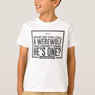 Unaware Silly Stupid Werewolf Halloween Design T-Shirt