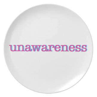 Unawareness.  60's edition. plate
