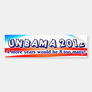 Unbama 2012 - Anti Obama Bumper Sticker
