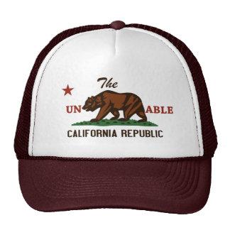 Unbearable California Republic hat