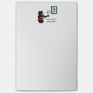 Unbearable Music Guitar Bear Post-it Notes