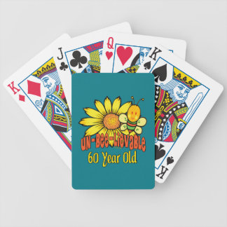 Unbelievable 60th Birthday Gifts Bicycle Playing Cards