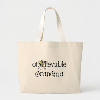 Unbelievable Grandma totebag Large Tote Bag