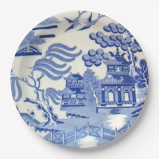 Unbreakable Blue Willow Plates 9 Inches Kid Safe! 9 Inch Paper Plate