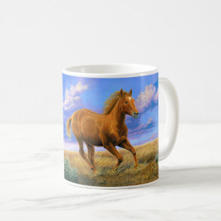 """Unbridled Freedom"" Quarter Horse - Coffee Mug"