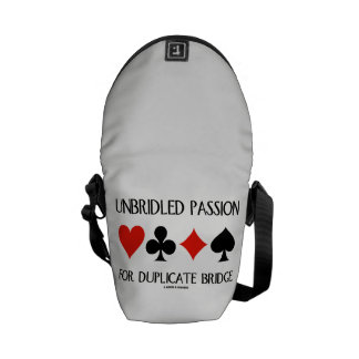 Unbridled Passion For Duplicate Bridge Card Suits Courier Bags
